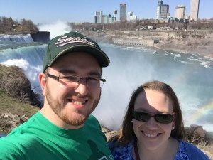 Me and my lovely wife, Abby; Niagra Falls, April 2016.